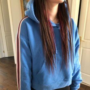 Blue aritzia iconic hoodie